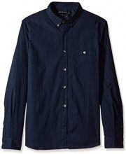French Connection Classic Printed Shirt, Camicia Casual Uomo, Multicoloured (Dot Marine/White), X-Large