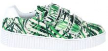 Sneakers con stampa a felci