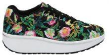Sneakers fitness con felci e fiori