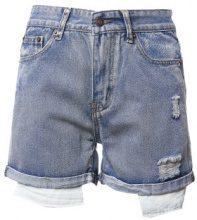Shorts di jeans con fodera tasche a vista