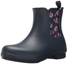 Crocs Freesail Chelsea Boot Women, Stivali di Gomma Donna, Blu (Navy/Floral), 37/38 EU