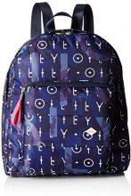 Oilily Ruffles Backpack Lvz - Zaini Donna, Blau (Dark Blue), 14x36.5x31 cm (B x H T)