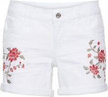 Shorts di jeans con ricamo (Bianco) - BODYFLIRT