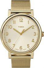 Timex T2N598D7 Orologio Analogico da Polso, Unisex, Oro