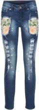 Jeans multicolore effetto usato (Blu) - RAINBOW