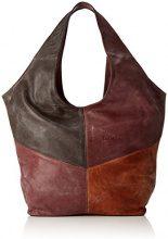 Think Think! Bag - Borse a spalla Donna, Rot (Vino/kombi 37), 17x33x43 cm (B x H T)