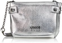 Armani Jeans Borsa Tracolla - Borse Baguette Donna, Silber (Argento), 13x5x20 cm (B x H T)