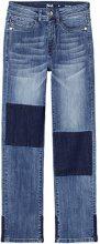 FIND Jeans a Vita Alta con Toppe Donna, Blu (Denim Blue), W28/L32 (Taglia Produttore: Small)
