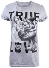 Disney True Love, T-Shirt Donna, Grey (Sport Grey), 44