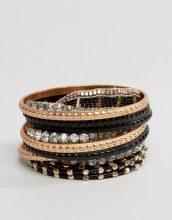 Liars & Lovers - Confezione di bracciali rigidi con strass oversize - Oro