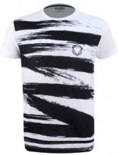 T-shirt con pennellate a stampa