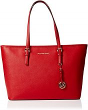 Michael Kors Jet Set Travel, Borsa Tote Donna, Rosso (Bright Red), 43.2x29.2x12.7 cm (W x H x L)