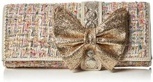 Irregular Choice Cookies & Cream Clutch - Pochette da giorno Donna, Off-White (Cream Multi), 5x14x30 cm (W x H L)