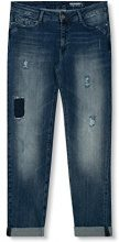 edc by ESPRIT 027cc1b031, Jeans Donna, Blu (Blue Dark Wash), W31/L32 (Taglia Produttore: 31/32)
