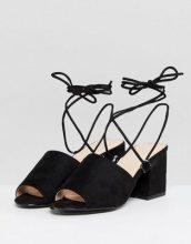 Public Desire - Paddington - Sandali neri con tacco largo e allacciatura - Nero