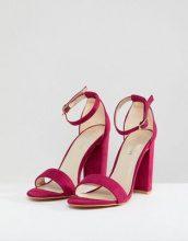 Glamorous - Sandali effetto nudo fucsia con tacco largo - Rosa
