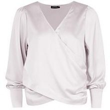 Harriet Wrap Front Plunge Blouse