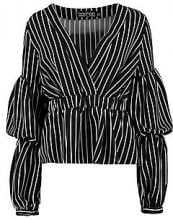 Grace Wrap Stripe Shirt
