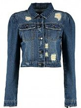 Hailey Puff Sleeve Slim Fit Denim Jacket