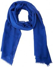 United Colors of Benetton Scarf Wool Blend, Sciarpa Donna, Blu (Blue 966), Taglia unica