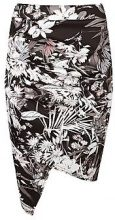 Amy Floral Rouched Wrap Front Mini Skirt