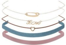 Set di 5 choker Love