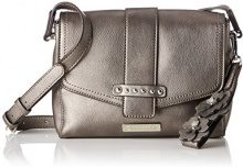Tamaris Danila Crossbody Bag S - Borse a tracolla Donna, Silber (Pewter), 7x16x22 cm (B x H T)