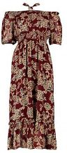 Hanna Off Shoulder Halterneck Paisley Midi Dress