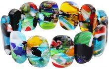 Bracciale con elementi di vetro