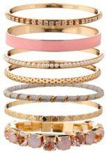 Set di 7 bracciali con ornamenti in strass