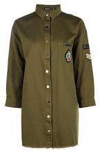 Petite cara abito a camicia in stile militare