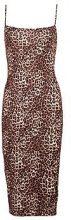 Tabitha Leopard Print Square Neck Midi Dress
