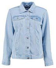 Debbie giubbotto di jeans oversize a taglio ampio maschile