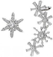 Set di ear cuff e orecchino a fiocco di neve 2 pz.