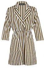 Larissa Stripe Wrap Front Midi Shirt Dress