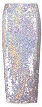 Nadia Holographic Sequin Long Line Midi Skirt
