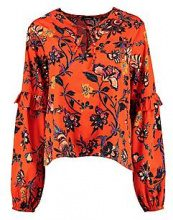 Summer Floral Woven Blouse