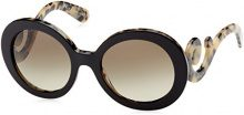 Prada Donna 0Pr27Ns 1Ab3M1 55 Occhiali da sole, Nero (Black/Grey Gradient)