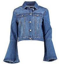 Flo giubbotto di jeans tagliato a vestibilità slim con maniche a flauto