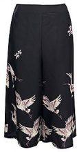 Olivia Bird Print Culotte Trouser