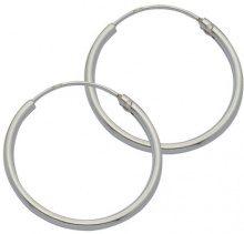 E-10938 - Orecchini a cerchio da donna, argento sterling 925