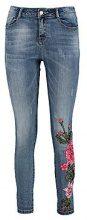 Ellie jeans skinny a vita media con ricamo floreale