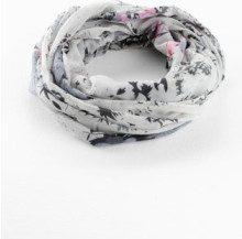 Sciarpina ad anello con fiorellini