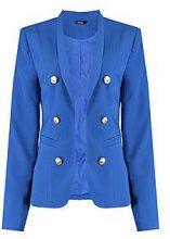Lucy Button Detail Crop Blazer