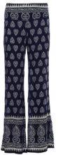 Pantaloni di stoffa con motivo orientale