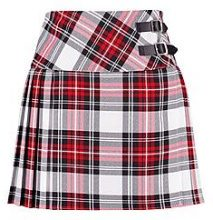 Zaina Buckle Detail Tartan Pleated Woven Skirt