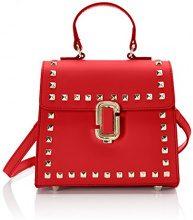 Chicca Borse 8673, Borsa a Mano Donna, Rosso (Red), 20x18x11 cm (W x H x L)
