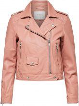 SELECTED Lamb - Leather Jacket Women Red