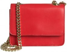 PIECES Simple Leather Crossbody Bag Women Red