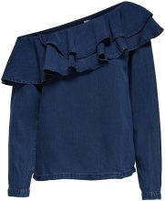 ONLY Frill Long Sleeved Blouse Women Blue